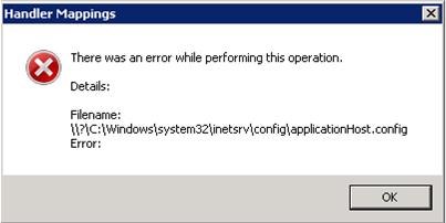 IIS7 Error