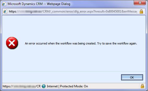 Workflow Error