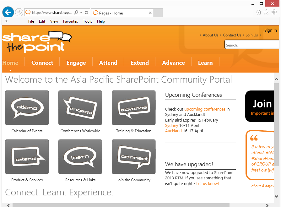 Speaking at the Australian and New Zealand SharePoint Conference 2013 (1/4)